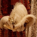 This ostrich-feather adorned hat inspired the one that was given to Blossom in the novel. It's authentic to the time period and was found intact in an antique store in San Juan Capistrano, Calif., just steps away from the world-famous mission.